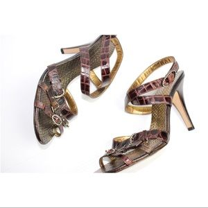 Vintage Giuseppe Zanotti Croco Heel Sandals
